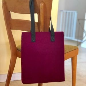 Handbags - Plum felt bag